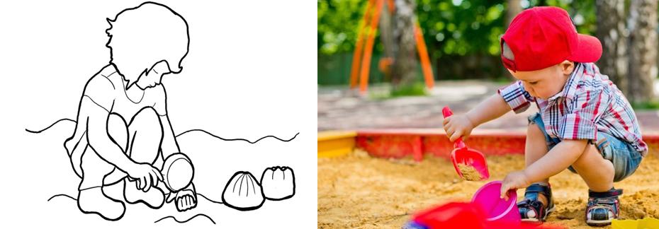 Детская съемка в песочнице