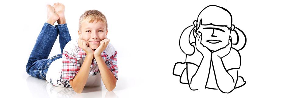 удобная поза для фотографии детей