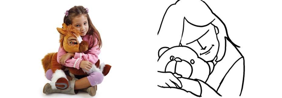 Детская фотография с игрушкой