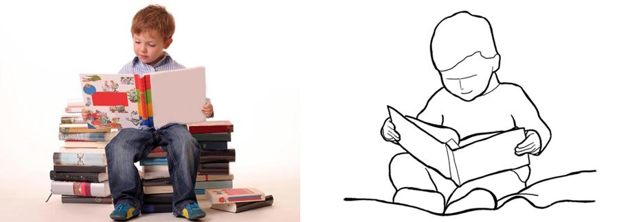 ребенок за чтением фото