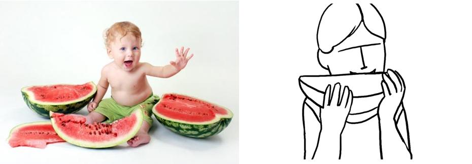 Еда - фото реквизит для детской фото сессии
